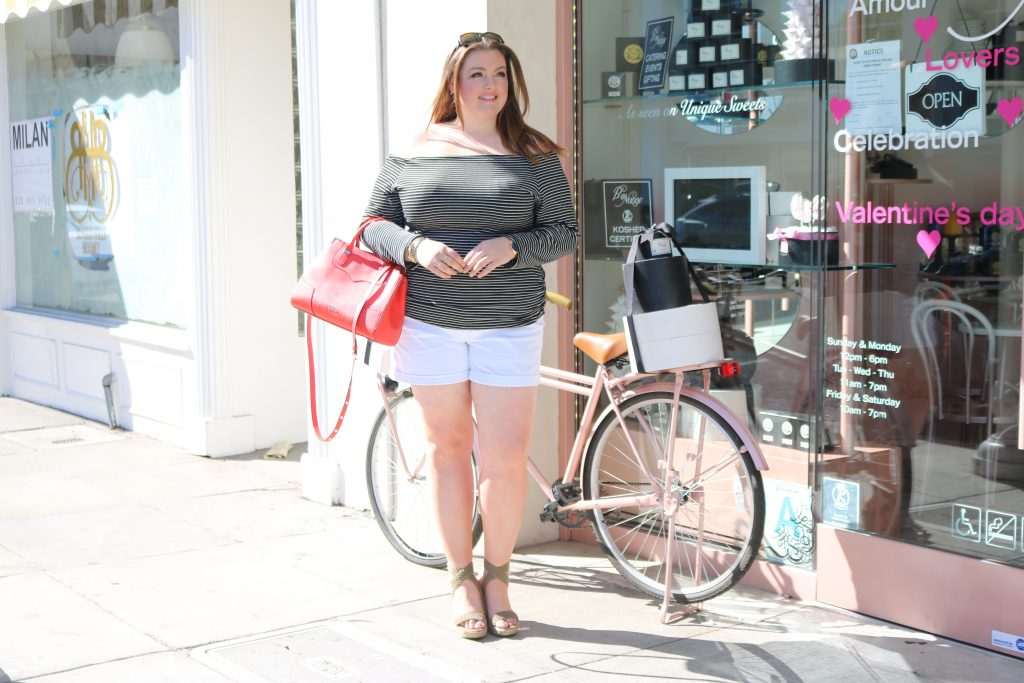 Lovely in LA Fashion to Figure Beverly Hills Plus Size Fashion Curvy Striped Nautical Top