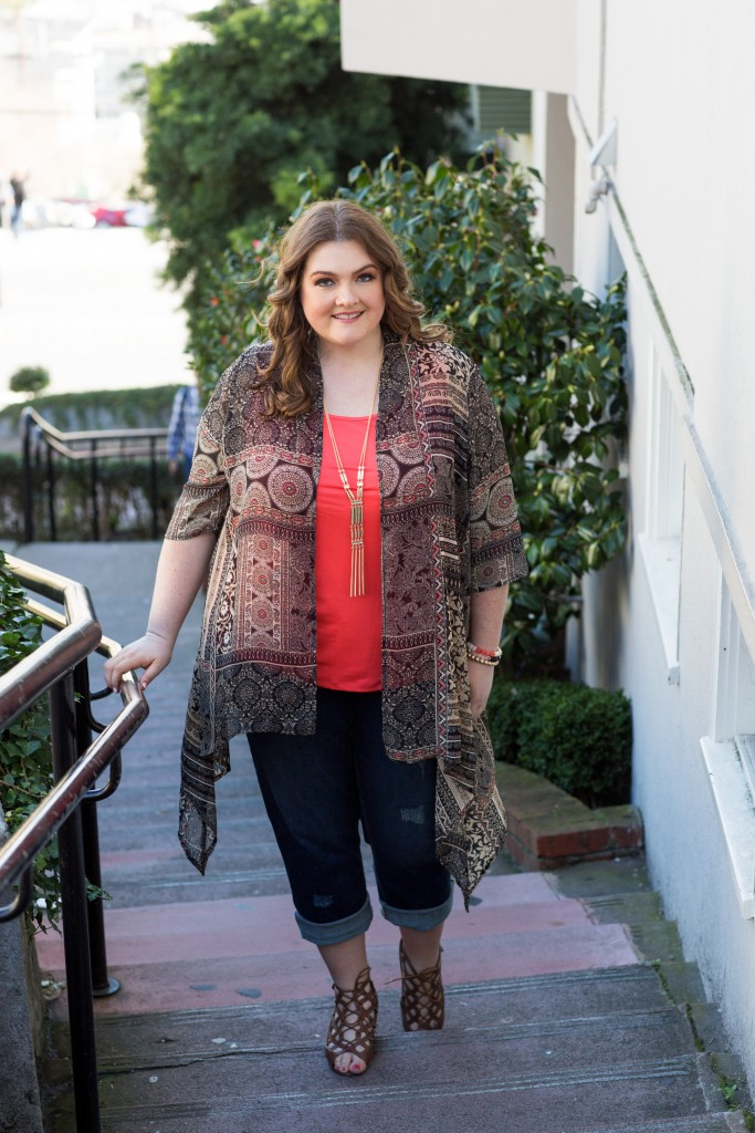 lovely in la catherines plus sizes lombard street san francisco new bohemian topper blogger curvy los angeles