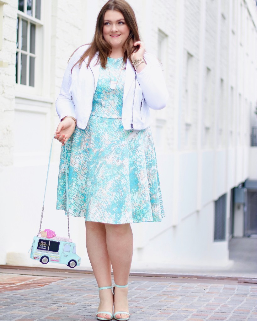 lovely in la kate spade fashion to figure plus size scuba dress top plus size blogger los angeles beverly hills marble print spring