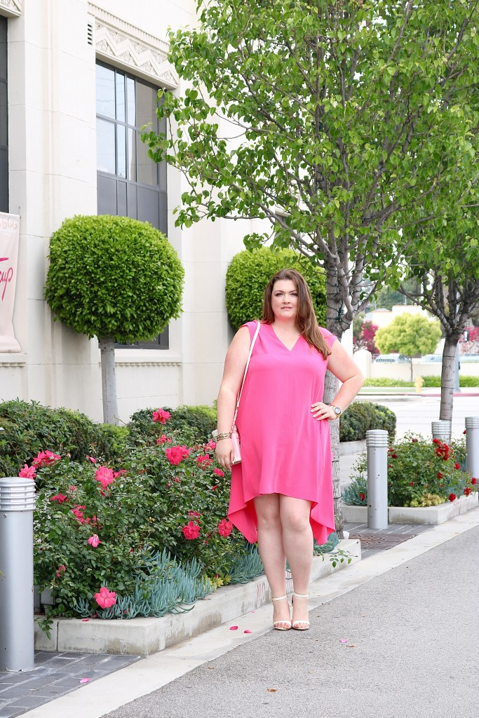 lovely in la Rachel Roy Curvy Collection Sydney Dress Bright Coral