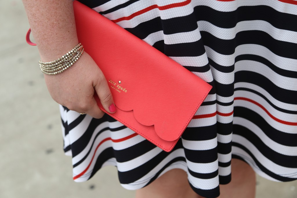lovely in la kate spade debshops nautical off shoulder dress top plus size blogger justfab shoes
