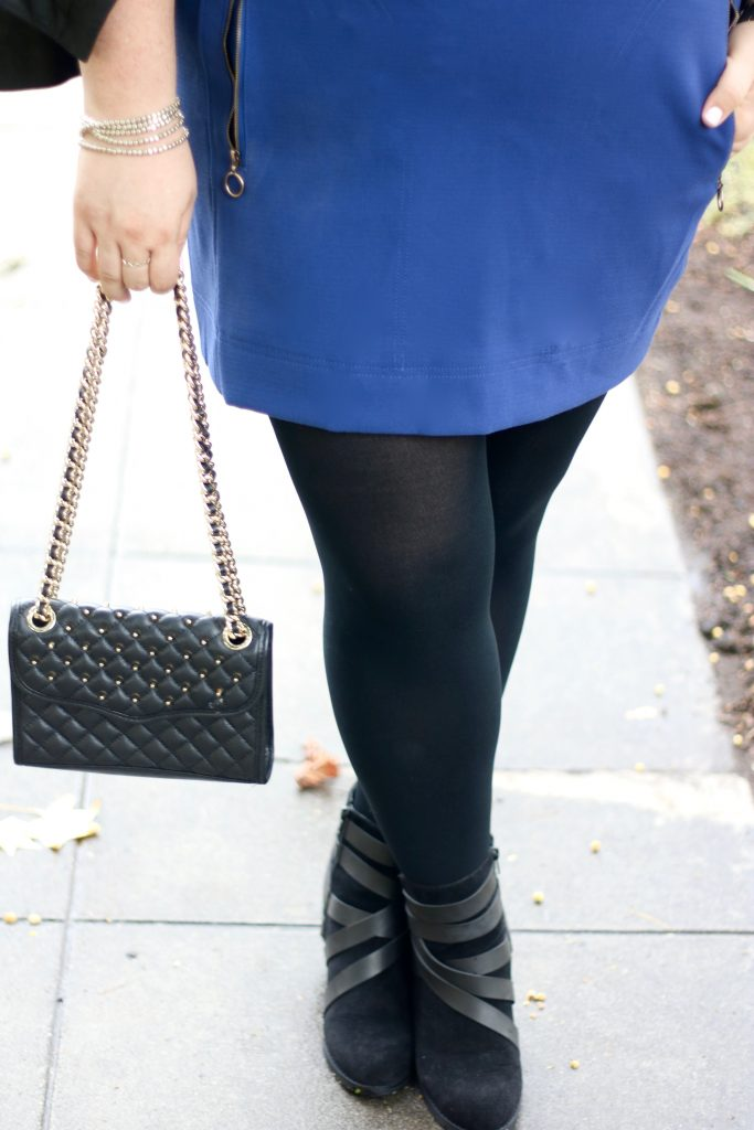 lovely in la just my size blackout tights fall fashion booties top plus size bloggers los angeles