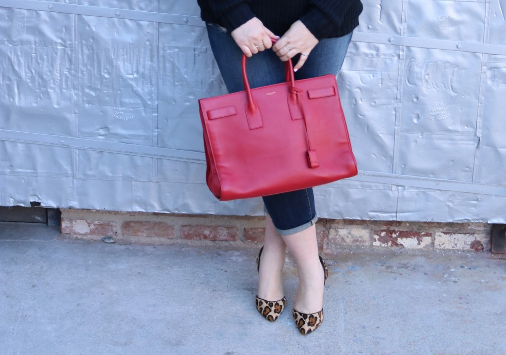lovely in la trendlee collab red YSL sac du jour used