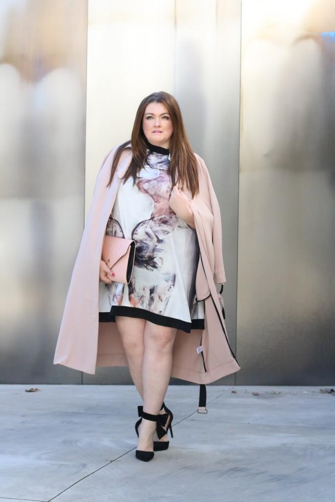curvy trendy fashion elvi plus size trench coat