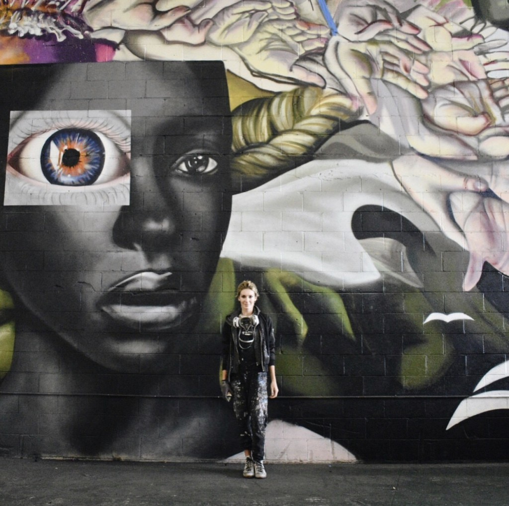 Sunset Marquis Mural Artist Elle