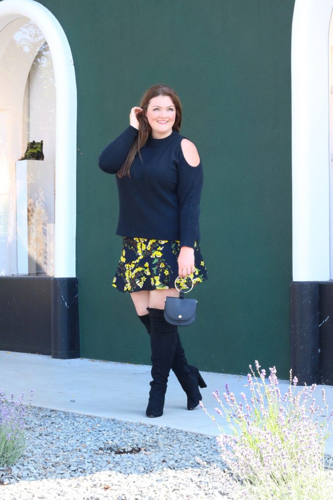 Who what wear Floral Skirt Plus Size Review Lovely in LA