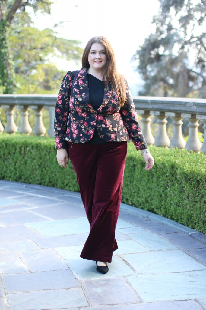 ModCloth Corduroy Wide-Leg Trousers with Buttons in 2X