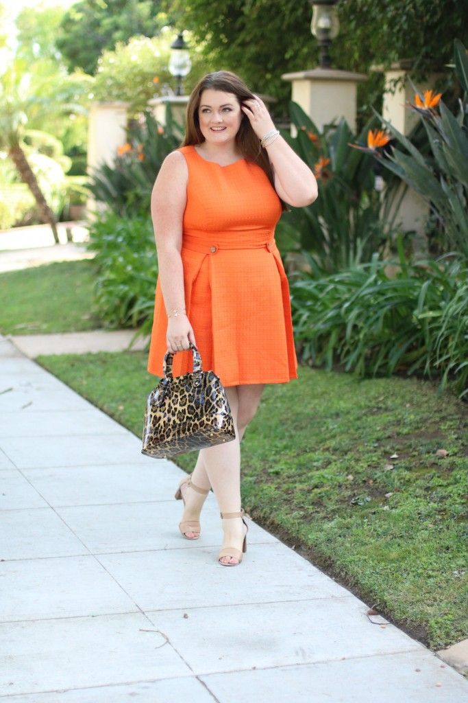 modcloth So Sixties A-Line Dress in Clementine in 2X