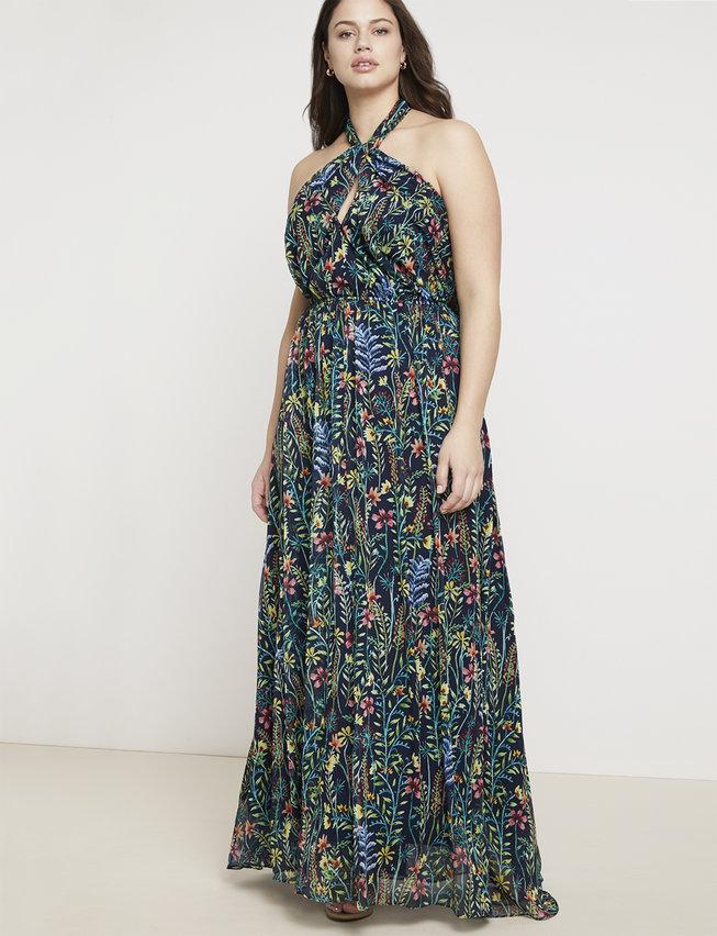 Jason Wu Eloquii Halter Maxi Dress
