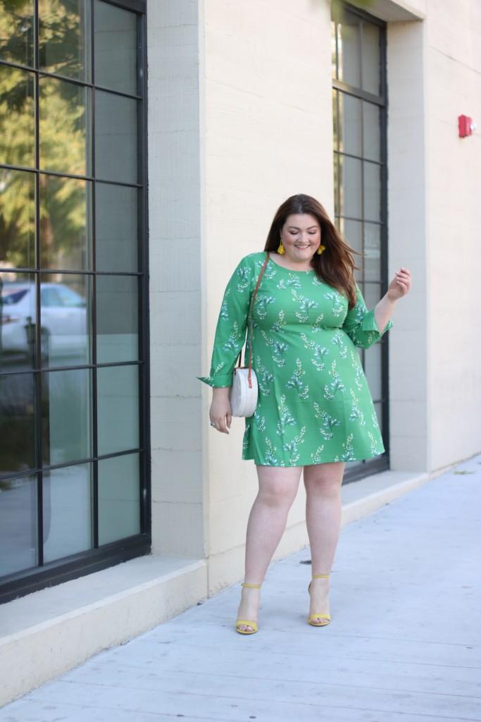 loft-green-flowerbranch-shirtdress-plus-size
